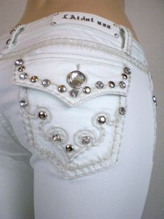 La Idol White Jeans Tribal Tattoo Fleur De Lis . 0 15