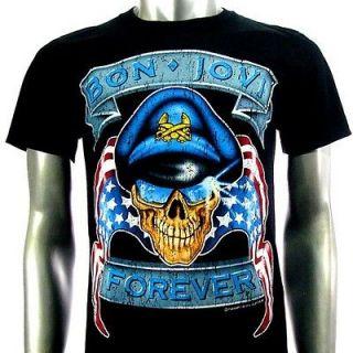 Sz M Bon Jovi T Shirt American Punk Rock Men S48