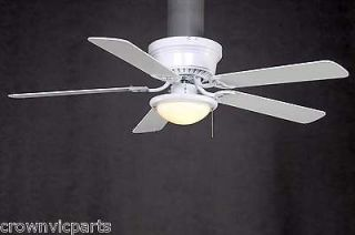 Hampton Bay Hugger 52 inch Low Profile White Dome Light Ceiling Fan