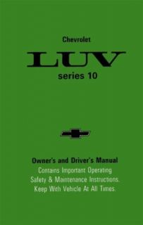 1980 Chevrolet Luv Truck Owners Manual User Guide Reference Operator