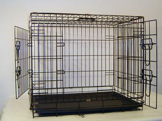 Extra Large 48 Folding Dog Crate Cage Kennel Two Door