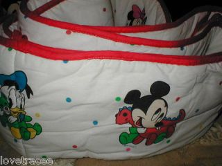 MICKEY MINNIE MOUSE BABY PLUTO DONALD DAISY DUCK DUNDEE Crib Bumper