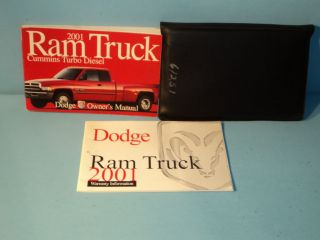 01 2001 Dodge Ram Cummins Turbo Diesel owners manual