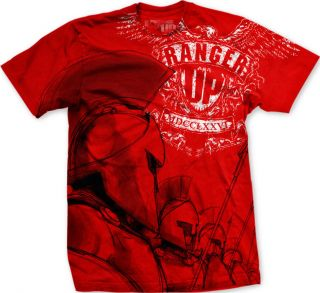 Ranger Up Spartan Phalanx T Shirt   Red