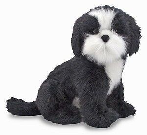 Plush Shih Tzu Toy Dog Stuffed Animal   Melissa and Doug