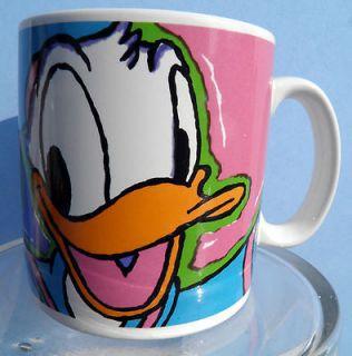 Donald Duck Disney Coffee Tea Cup Mug Applause Waving Great Stocking