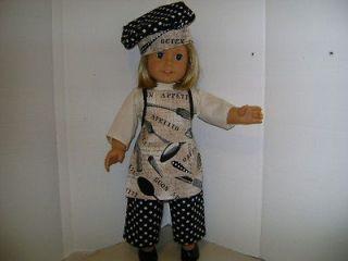 Chef Outfit for Kit American Girl,Sophia Dolls, Journey Girl, etc