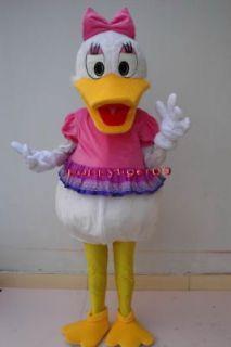 New Daisy Duck Mascot Costume Fancy Dress Adult Suit