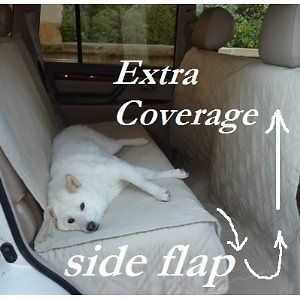 and Padded Car Seat Cover For Dog Pet Extra Length Coverage.Khaki
