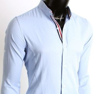 311 t shirts band for Men s collarless banded collar dress shirt