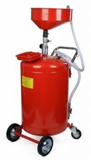 30 Gallon Oil Waste Drain Tank Pan Auto Garage Lift w/ Telescoping