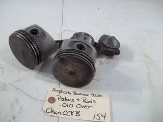 Simplicity Powermax 9020 Onan CCKB Pistons and Rods .010 Over