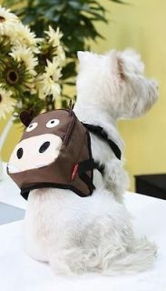 NEW Super Cute Fashion Cartoon Backpack For Small Medium Dog Puppy