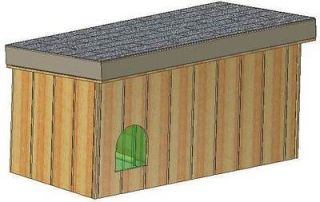 INSULATED DOG HOUSE PLANS, 15 TOTAL, SMALL DOG, WITH PATIO EASY TO
