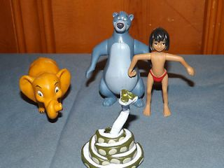 DISNEYS THE JUNGLE BOOK FIGURE TOYS LOT OR CAKE TOPPERS BALOO