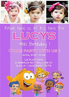 Bubble Guppies Birthday Party Invitation. YOU PRINT