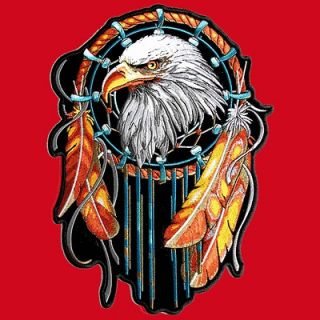 Newly listed EAGLE DREAM CATCHER IRON ON EMBROIDERED 12 INCH BIKER