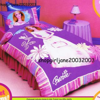 Barbie   Sweet Dreams   Single/Twin Bed Quilt Doona Duvet Cover Set