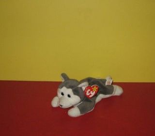 Ty Beanie Babies Baby   Nanook The Husky Puppy Dog Bean Plush w/ Tag