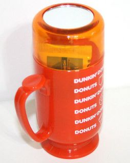 RARE DUNKIN DONUTS Travel Toothbrush Toothpaste KOREA Mug Airline