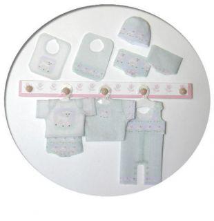 Dollhouse Miniature Newborn Baby clothing kit Little Lambs B