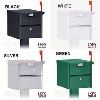 LOCKING MAILBOX   Front & Rear Doors   Roadside Mail Box (8) Colors