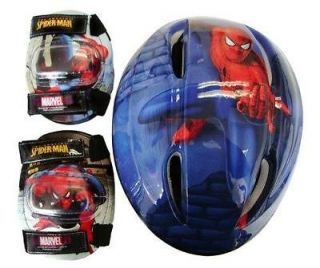 NEW SPIDERMAN CHILD HELMET AND PADS COMBO PACK COMBO