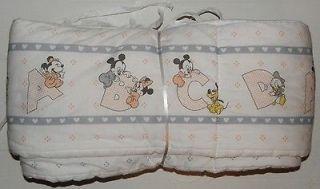 WALT DISNEY BABY MICKEY & MINNIE FULL SIZE CRIB BUMPER
