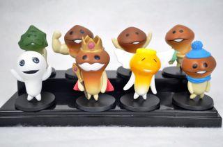 Lot Funghi Mushroom Garden Figure/Funghi Gardening Kit Set of 8pcs