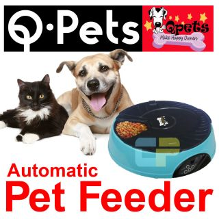 Qpets Automatic Pet Feeder Dog Cat AF 108 Programmable Trays Q Pets