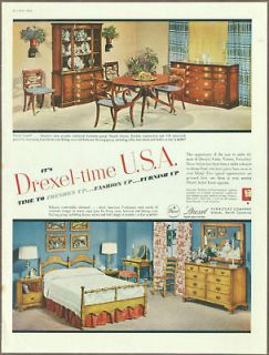 Drexel Furniture 1954 print ad / vintage magazine ad, large 10 x 13