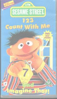 SESAME STREET EARLY LEARNERS   1 2 3 COUNT WITH ME VIDEO VHS PAL