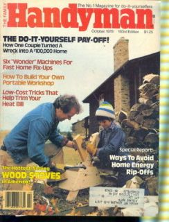 1978 Handyman Magazine Hot Selling Wood Stoves/Energy