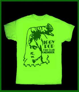 IGGY POP Fan Club T SHIRT PUNK THE STOOGES VINTAGE RETRO GLAM Johnny