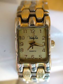 FAIR SOPHISTICATED DUAL TONE LADIES QUARTZ WATCH NEW BATTERY WORKS(C1