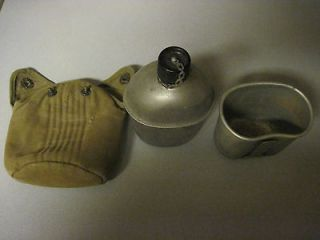 WWII canteen and WW1 cup