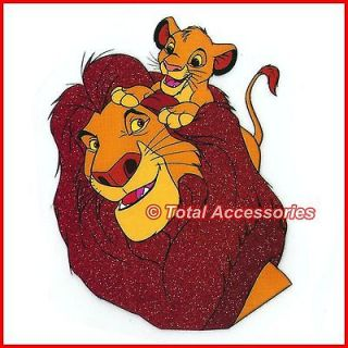 MUFASA & SIMBA LION KING   Iron On T Shirt Glitter Heat Transfer  NEW