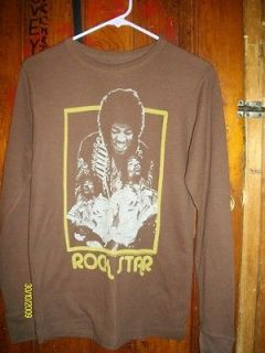 Jimi hendrix Vintage Rock Star Shirt Mens M (long John type) 1985