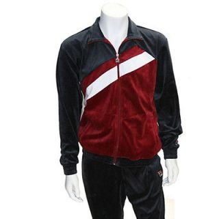 FILA MENS LIFESTYLE VELOUR SWEATSUIT IN EBONY