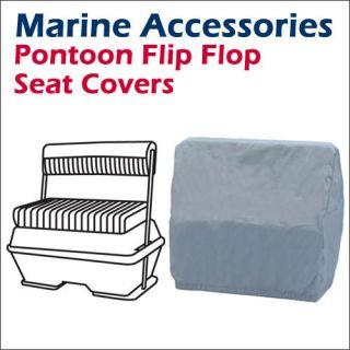 Pontoon Flip Flop boat Seat Cover 22(D) x 33(W) x 32(H) Grey