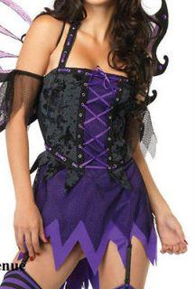 Womens Sexy Dress Costume Medium Large Halloween Witch Evil Fairy Leg