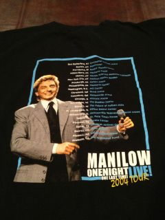 Barry Manilow 2004 tour concert shirt One Night Onel Last Time large