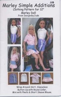 Newly listed Doll Clothes Pattern for 12Tonner Marley Wentworth