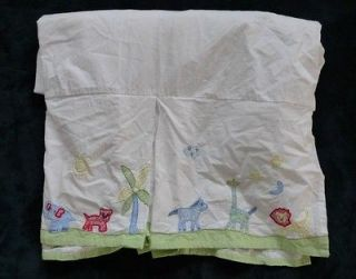 Pottery Barn Kids PBK Jungle Safari Animals Baby Nursery Cribskirt