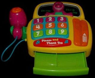 PBS Please and Thank you electronic BARNEY cash register toy scanner