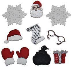 CHRISTMAS TEDDY BEAR   Novelty Theme Buttons   by Dress It Up   All