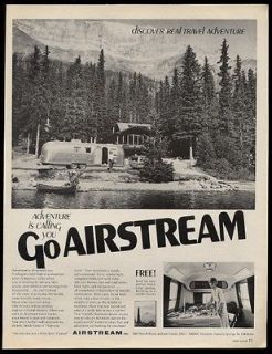 1968 Airstream streamlined travel trailer mountain house photo vintage