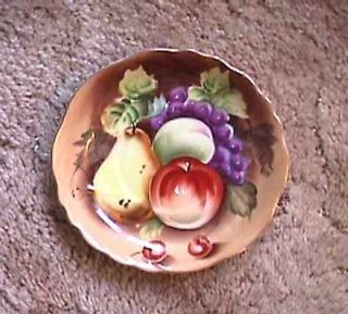 Antique Lefton China Hand Painted Gold Trim Saucer Fruit Design