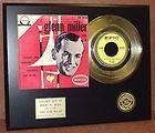 GLENN MILLER 24KT GOLD 45 RECORD LTD EDITION DISPLAY AWARD QUALITY