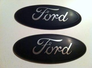 2004 11 Ford F 150 350 Gril le/Tailgate Emblem,FLAT MATTE BLACK 9
